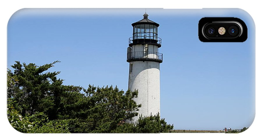 Light IPhone X Case featuring the photograph Cape Cod Light - Highland Light by Christiane Schulze Art And Photography