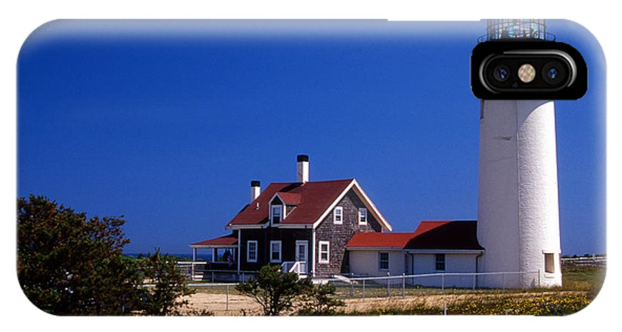 Lighthouses IPhone X Case featuring the photograph Cape Cod Or Highland Lighthouse by Skip Willits