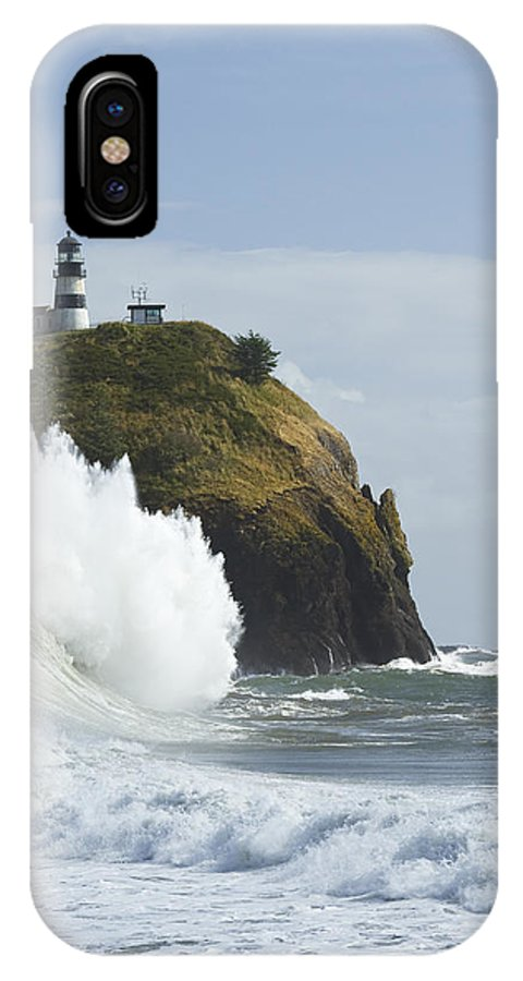 Sea IPhone X Case featuring the photograph Cape Disappointment 3 A by John Brueske