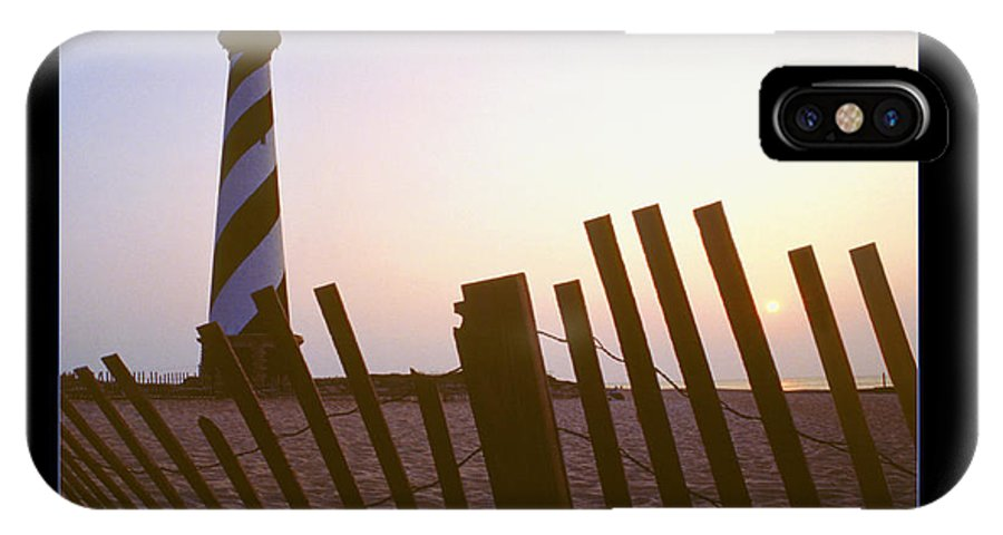 Outer Banks Sunrise IPhone X / XS Case featuring the photograph Cape Hatteras Lighthouse by Mike McGlothlen