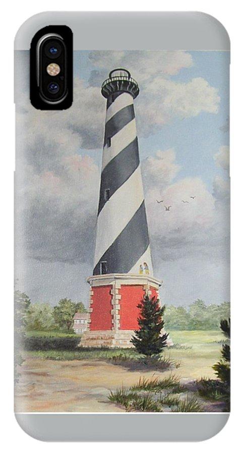 Sunrise Clouds IPhone X Case featuring the painting Cape Hatteris Sunrise by Wanda Dansereau