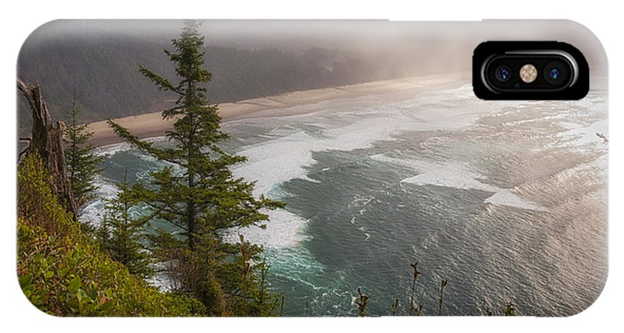 Oregon IPhone X Case featuring the photograph Cape Lookout Vista by Mary Angelini
