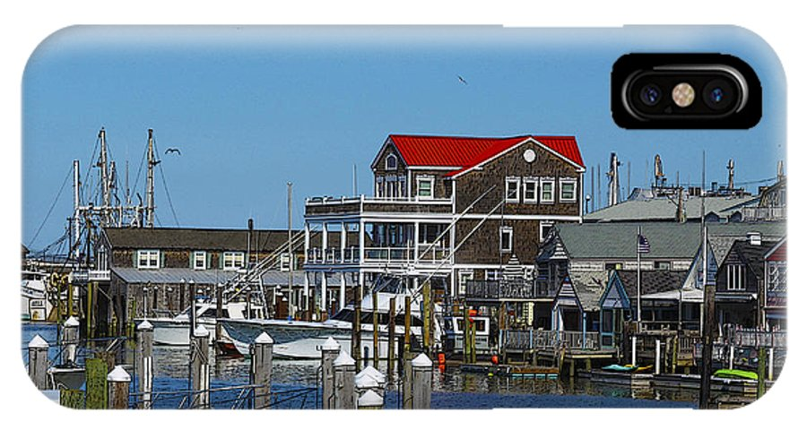 Cape May IPhone X Case featuring the photograph Cape May Harbor by Patrick Meek