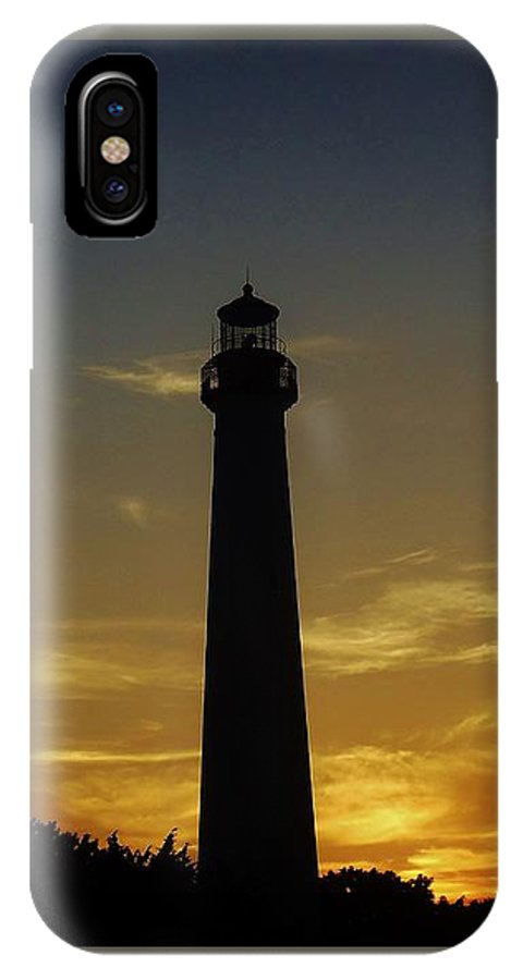 Lighthouse IPhone X Case featuring the photograph Cape May Lighthouse At Sunset by Ed Sweeney