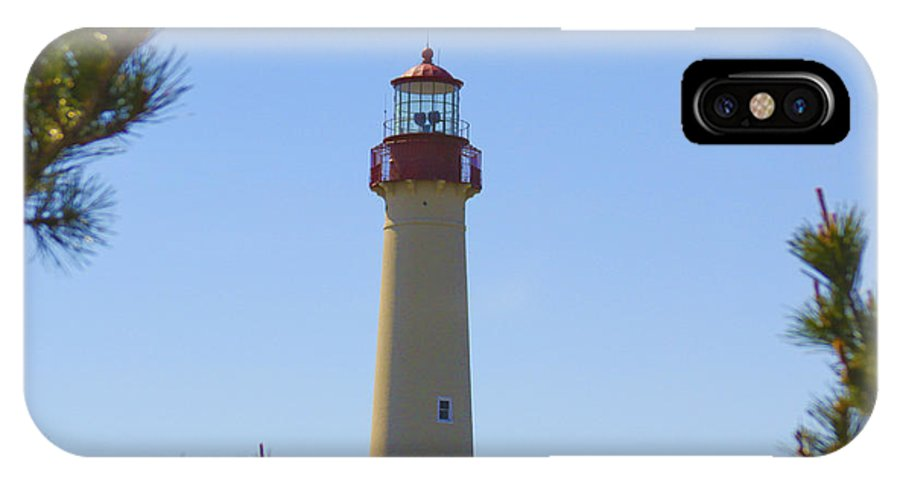 Cape May IPhone X Case featuring the photograph Cape May Lighthouse by Patrick Meek