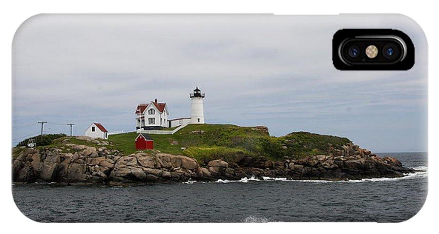 Cape Neddick Nubble Light IPhone X Case featuring the photograph Cape Neddick - Nubble Lighthouse by Christiane Schulze Art And Photography