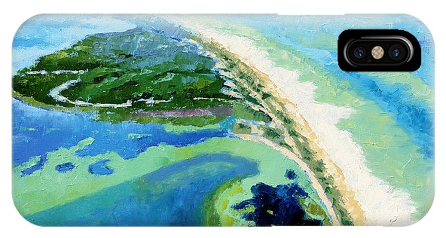Landscape IPhone X Case featuring the painting Cape San Blas Florida by John Lautermilch