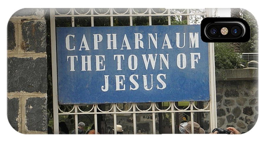 Capharnaum Gate Israel IPhone X Case featuring the photograph Capharnaum by Robin Coaker