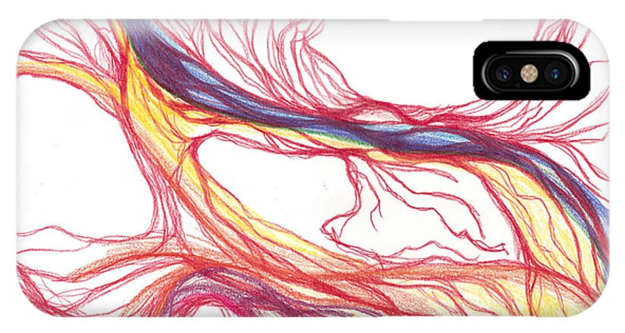 Capillaries IPhone Case featuring the drawing Capillaries by Lindsay Clark