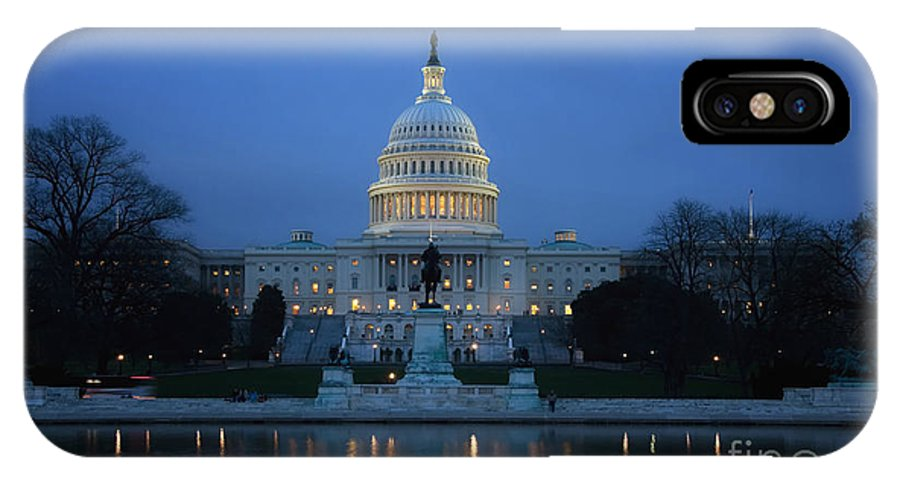 Washington IPhone X Case featuring the photograph Capitol Building Washington Dc by Audra Mitchell