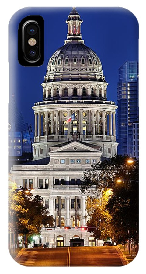 Texas Capitol IPhone X Case featuring the photograph Capitol Of Texas by Silvio Ligutti