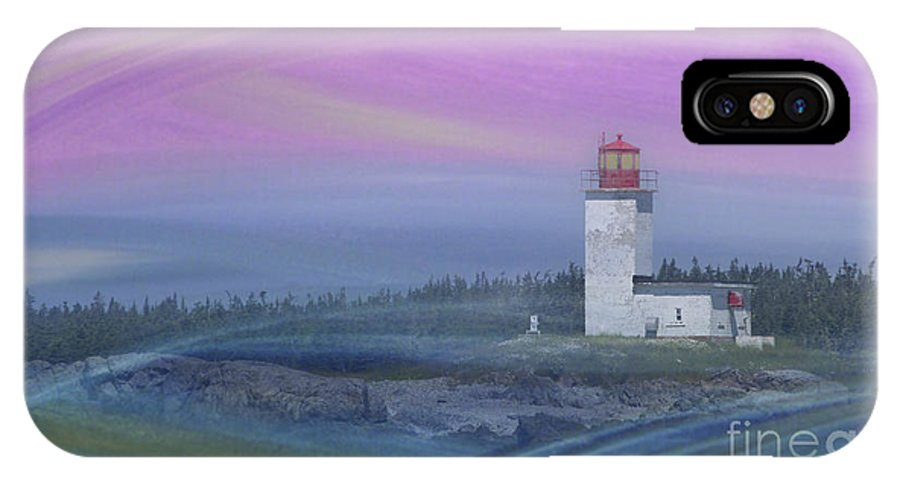 Festblues IPhone X Case featuring the photograph Capricious Lighthouse... by Nina Stavlund