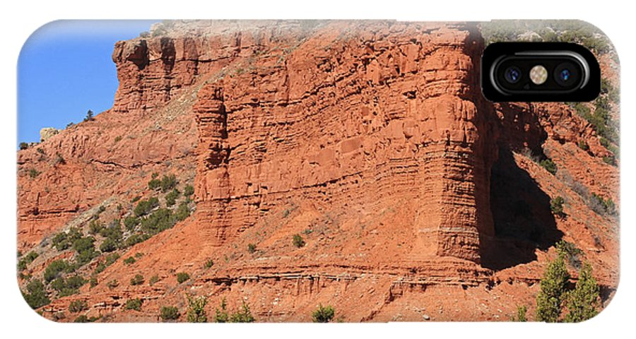 Texas IPhone X Case featuring the photograph Caprock Canyon 2 by Ashley M Conger
