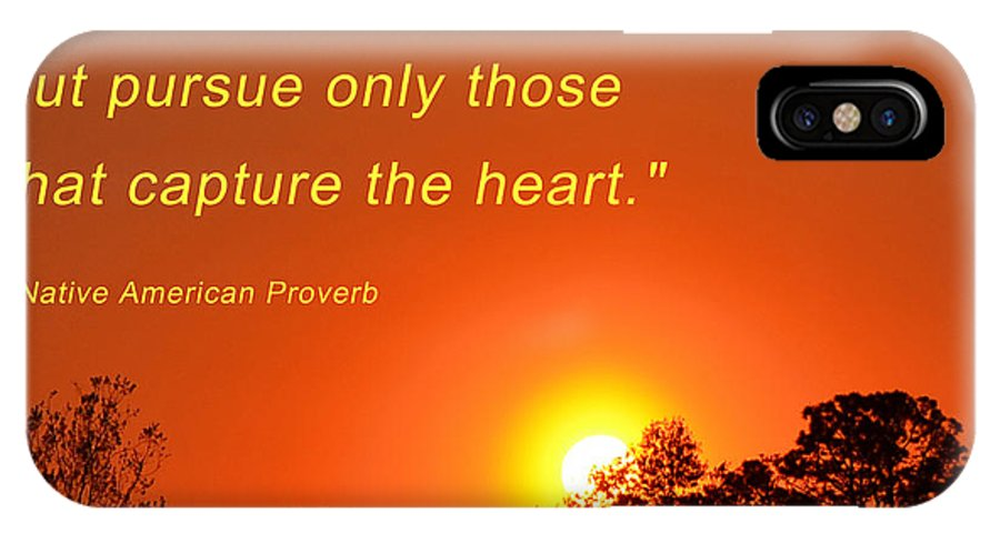 Sunset IPhone X Case featuring the photograph Capture The Heart by Beth Sawickie