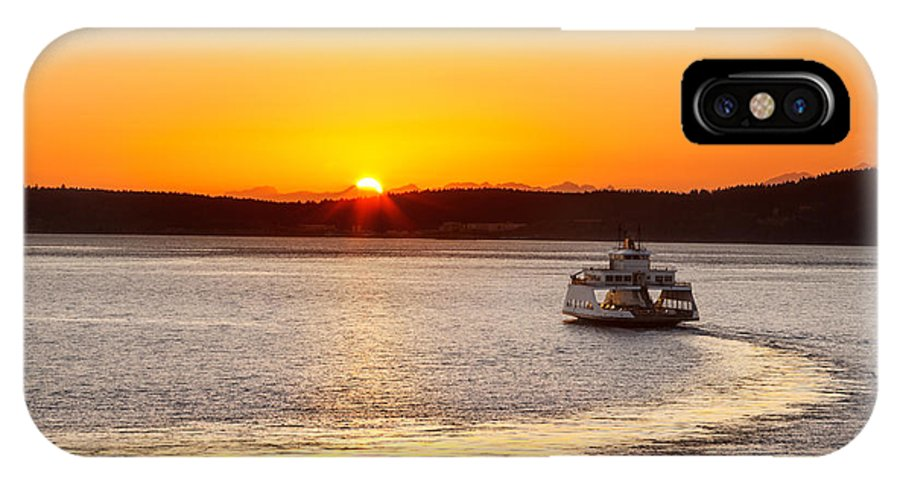 Car Ferry IPhone X Case featuring the photograph Car Ferry Leaving Steilacoom by Jo Ann Snover
