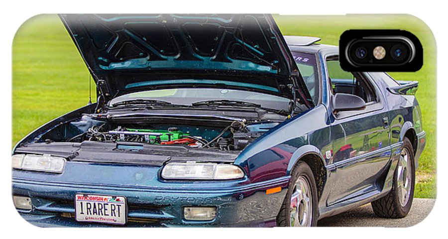 Dodge Daytona Iroc Rt IPhone X / XS Case featuring the photograph Car Show 022 by Josh Bryant