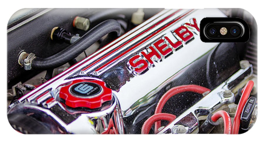 Dodge Shelby Csx Engine IPhone X / XS Case featuring the photograph Car Show 031 by Josh Bryant