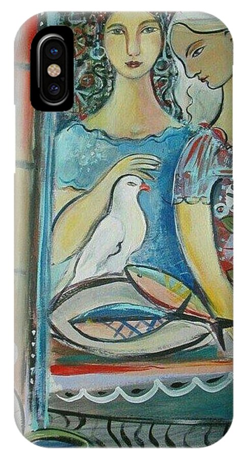 Caravan IPhone X Case featuring the painting Caravan Of Dream by Marlene LAbbe