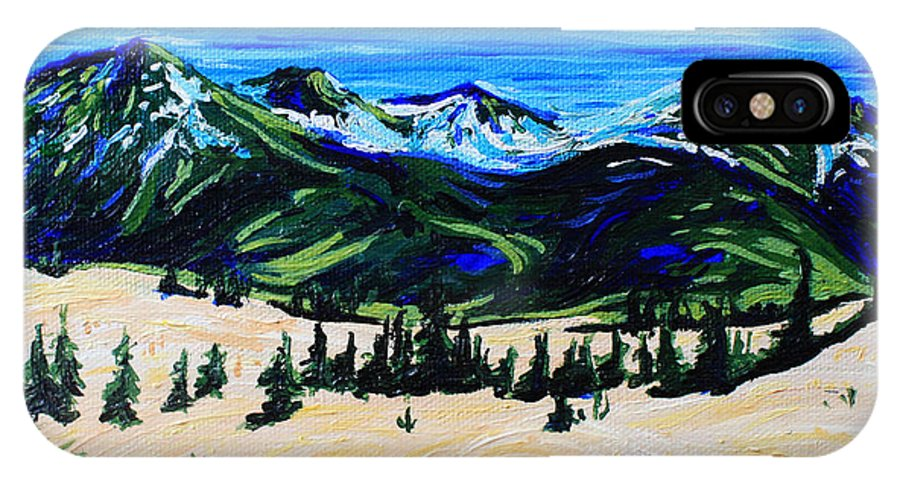 Carcross IPhone X Case featuring the painting Carcross Desert by Bridget Brummel