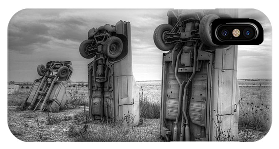 Carhenge IPhone X Case featuring the photograph Carhenge Automobile Art 3 by Bob Christopher