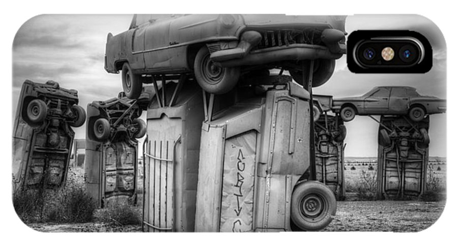 Carhenge IPhone X Case featuring the photograph Carhenge Automobile Art 4 by Bob Christopher