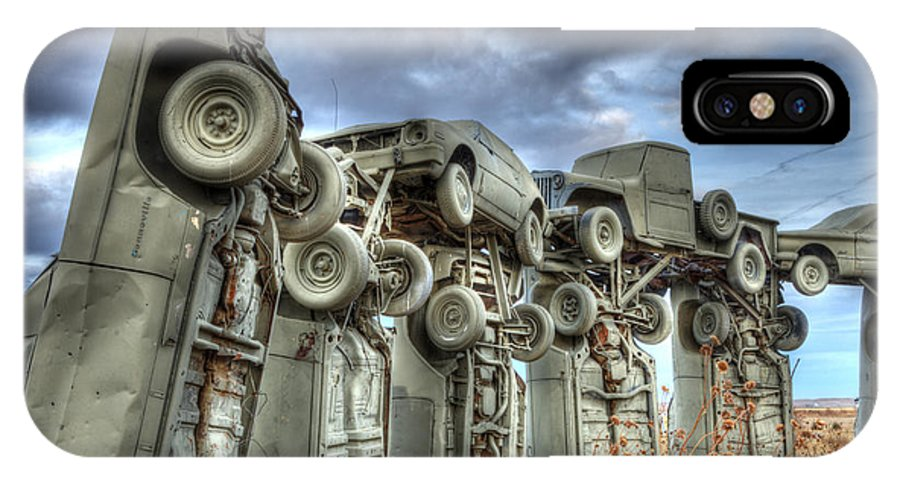 Carhenge IPhone X Case featuring the photograph Carhenge Automobile Art by Bob Christopher