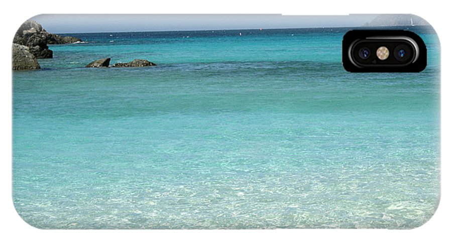 Caribbean IPhone X Case featuring the photograph Caribbean Celeste Fresh by Sharon McLain