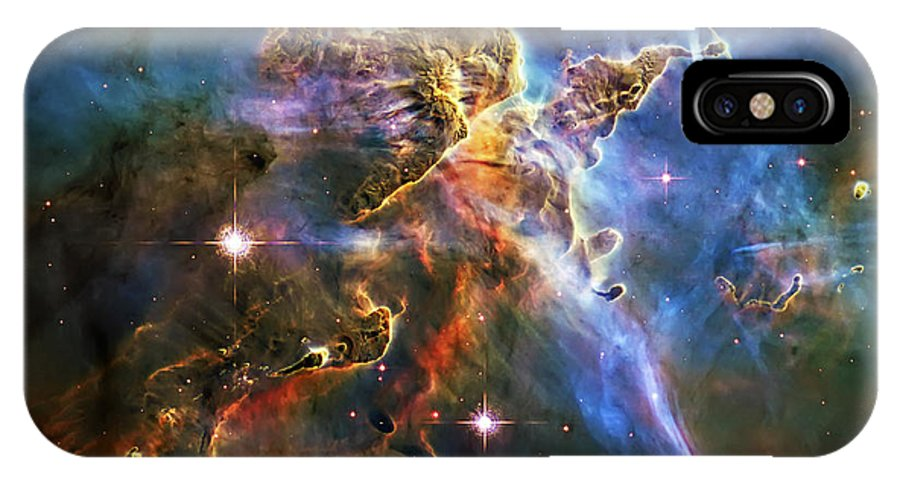 Universe IPhone X Case featuring the photograph Carina Nebula 6 by Jennifer Rondinelli Reilly - Fine Art Photography