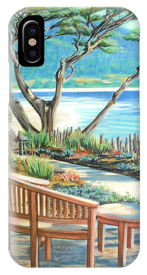 Carmel IPhone X Case featuring the painting Carmel Lagoon View by Jane Girardot