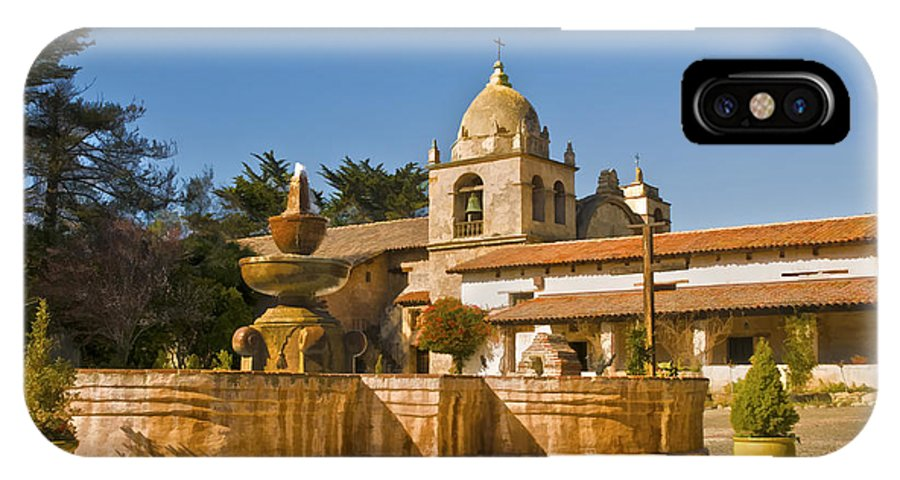Carmel Mission IPhone X Case featuring the photograph Carmel Mission by Mick Burkey