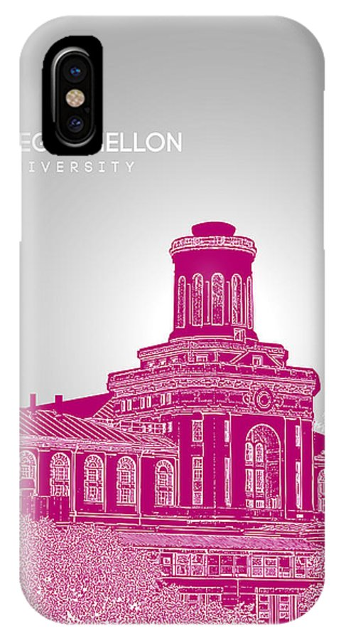 Carnegie Mellon University IPhone X Case featuring the digital art Carnegie Mellon University Hamerschlag Hall by Myke Huynh