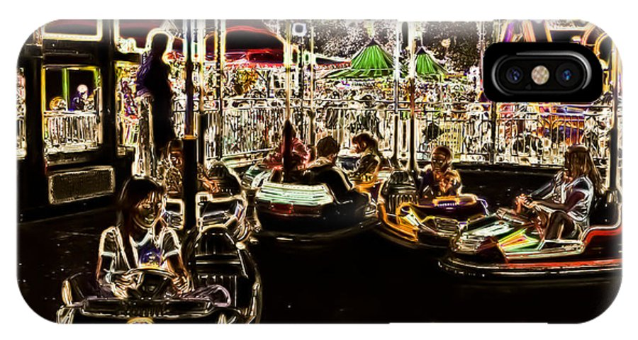 Carnival IPhone X Case featuring the photograph Carnival - Bumper Cars by Kathi Shotwell