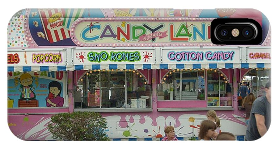 Carnival Framed Print IPhone X Case featuring the photograph Carnival Candy Land by Ann Willmore