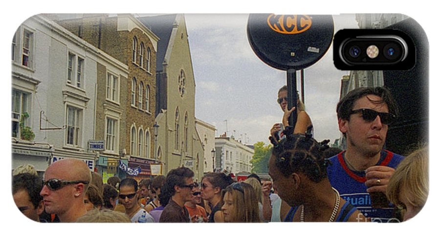 Photography IPhone X Case featuring the photograph Carnival Celebration Social Occasion Crowds by Richard Morris