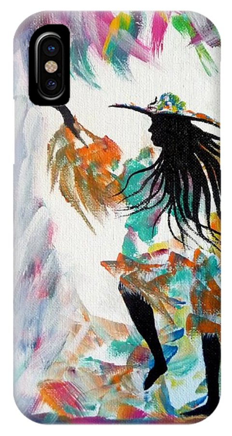 Carnival IPhone X Case featuring the painting Carnival Dancer by David Francke