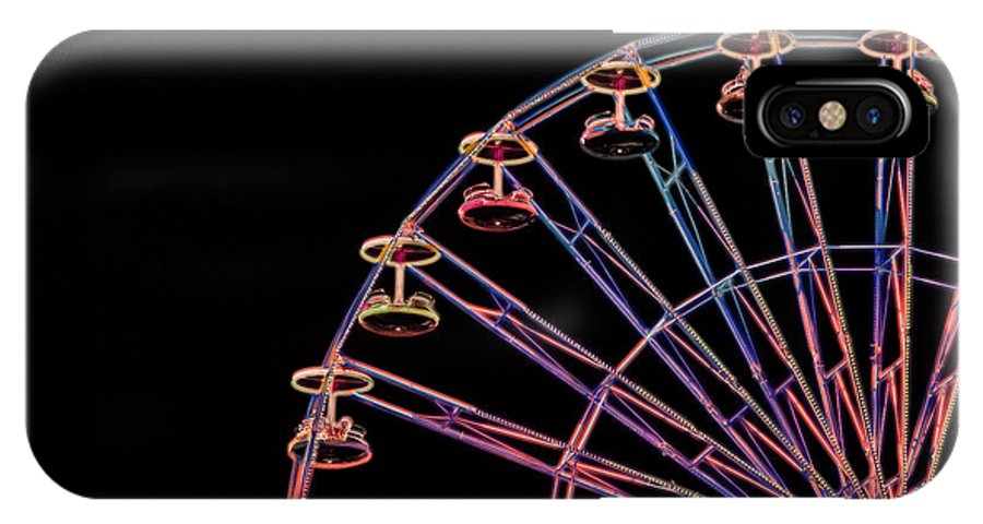 Carnival IPhone X Case featuring the photograph Carnival - Ferris Wheel by Kathi Shotwell