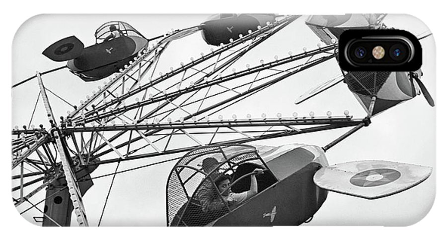 1942 IPhone X Case featuring the photograph Carnival Ride, 1942 by Granger