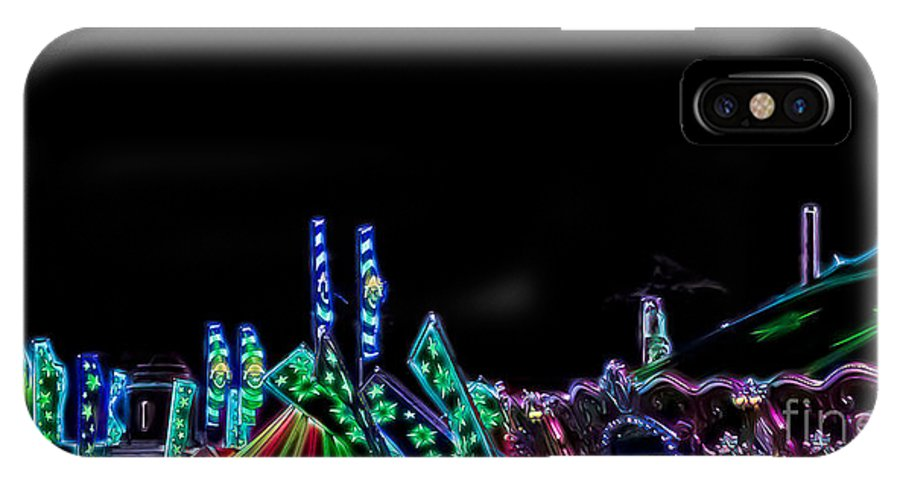 Carnival IPhone X Case featuring the photograph Carnival - Tent Tops by Kathi Shotwell