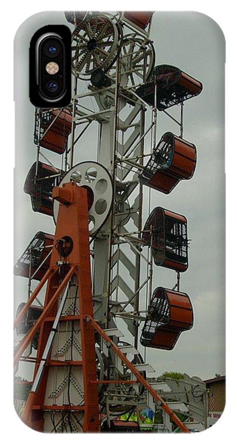 Carnival Framed Print IPhone X Case featuring the photograph Carnival Zipper by Ann Willmore