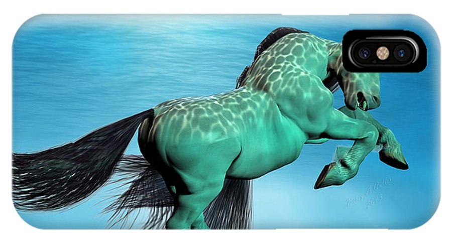 Horse IPhone X Case featuring the digital art Carousel Ix by Betsy Knapp