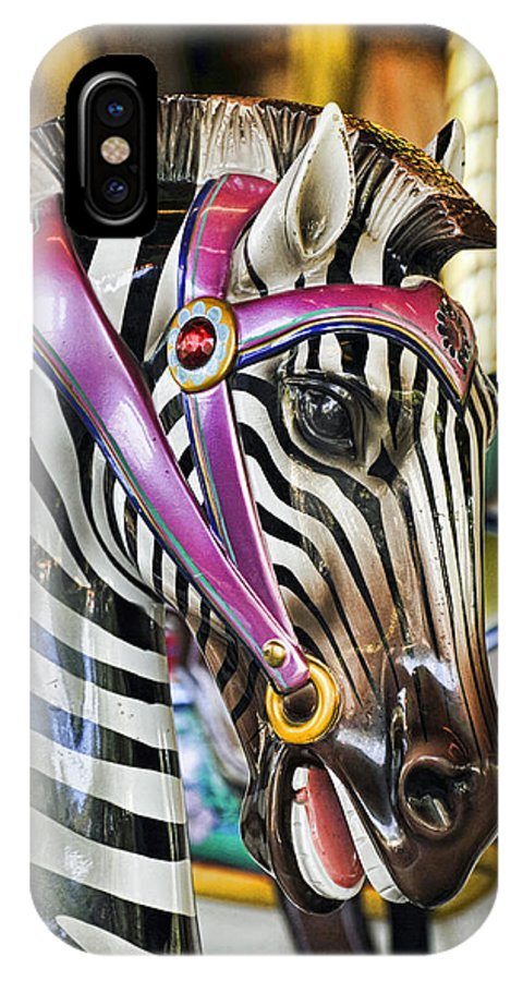 Kenny Francis IPhone X Case featuring the photograph Carousel Zebra by Kenny Francis