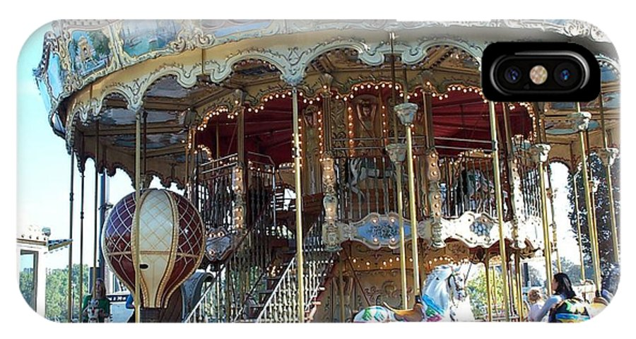 Paris IPhone X Case featuring the photograph Carrousel De Paris by Barbara McDevitt