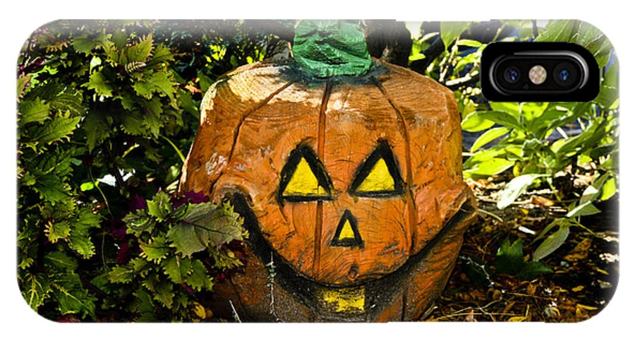 Halloween IPhone X Case featuring the photograph Carved Pumpkin 5 by Dennis Coates