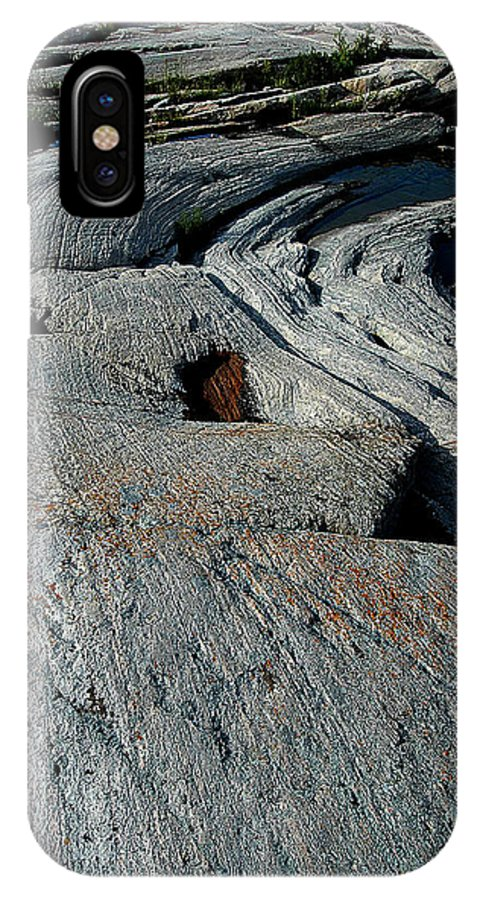 Canada IPhone X Case featuring the photograph Carved Rock by Patrick Boening