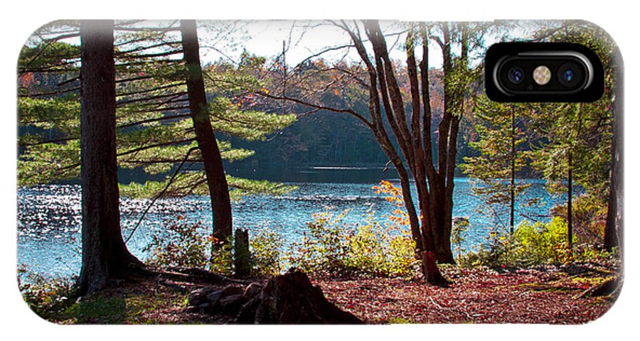 Adirondack's IPhone X / XS Case featuring the photograph Cary Lake In The Fall by David Patterson