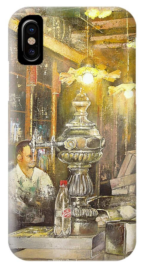 Casa Del Indiano IPhone X Case featuring the painting Casa Del Indiano by Tomas Castano