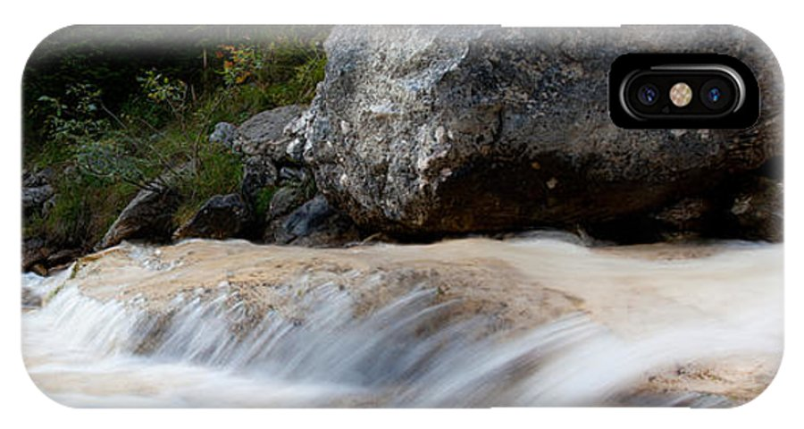 Cascade IPhone X Case featuring the photograph Cascade In The Bavarian Alps by Fabian Roessler