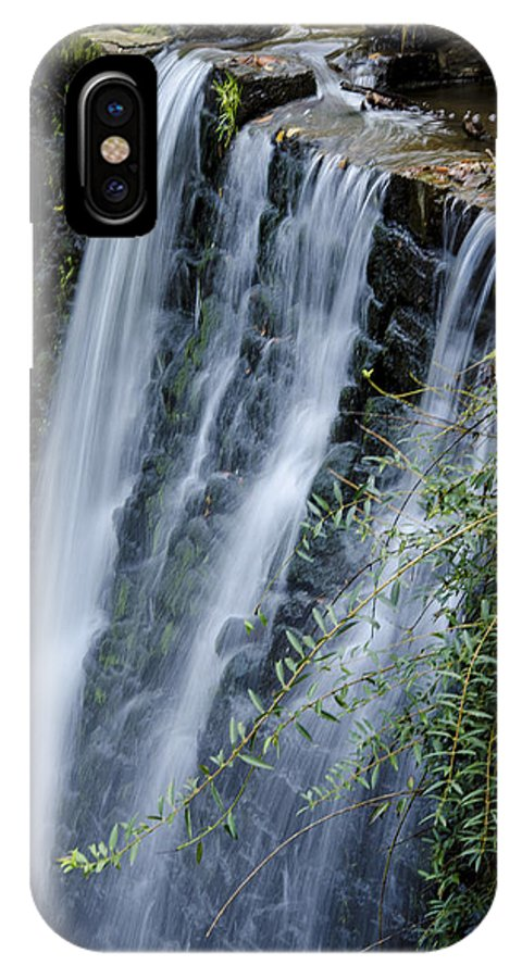 Water IPhone X Case featuring the photograph Cascadence by Heidi Kleva