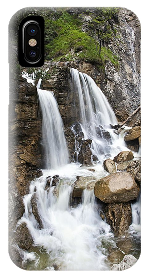 Kuhflucht IPhone X Case featuring the photograph Cascades In Bavaria by Fabian Roessler