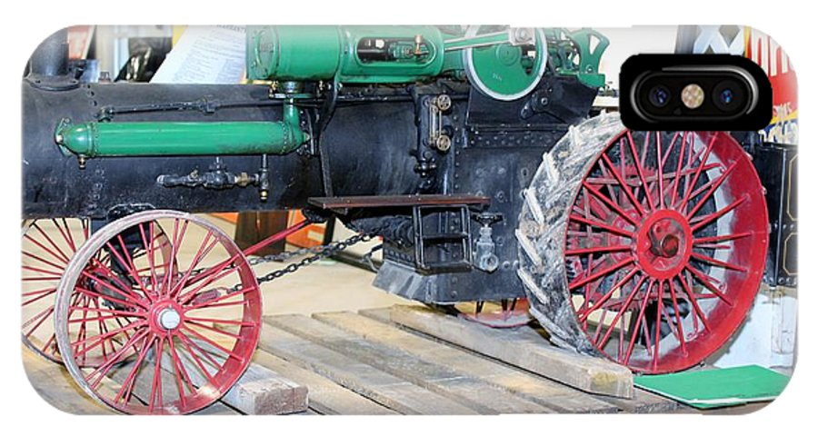 Farm IPhone X Case featuring the photograph Case Steam Tractor by Nelson Skinner